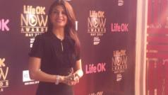 Jacqueline on red carpet