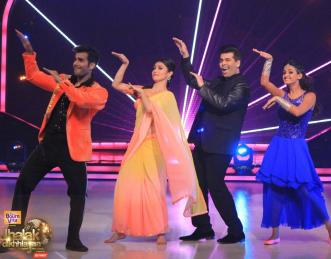Karan dances with his team and show some good moves