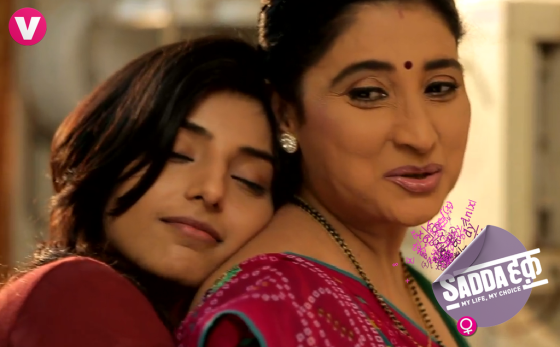 Sanyukta with her mom Anju